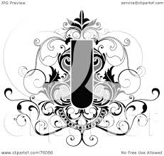 Decorative Text Boxes RoyaltyFree RF Clipart Illustration of a Decorative Black And 84