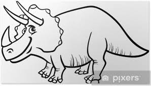 Triceratops Dinosaur Coloring Page Poster Pixers We Live To Change