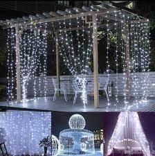2x2 Metre Perde Beyaz Led Işık 8 Animasyonlu Kontrol Kumandalı Fişli  Eklenebilir, Düğün Nişan Kına