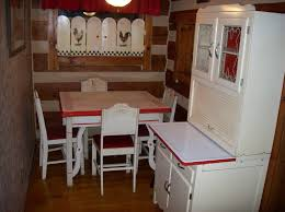 Enamel Top Cabinet 6 Pc Vintage Porcelain Enamel Top Table 4 Chairs Matching Hoosier