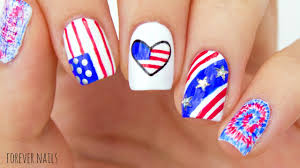 Gel Nail Designs For 4th Of July Fourth Of July Nails Easy 4th Of July Nail Designs