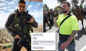 Avi Yemini calls police on Neil Erikson after 'dirty Jew' text | Daily Mail  Online