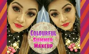 colouful summer and spring makeup tutorial lux style check 7