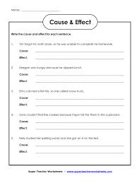 2nd In Line November 2012 Cause And Effect Matching Worksheets ...