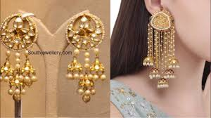 Long Heavy Earrings Design New Big Latkan Earrings Design Ideas For Lehenga Saree Suit Indian Wedding Jewelry Design Ideas