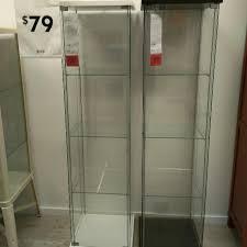 glass door cabinet ikea detolf