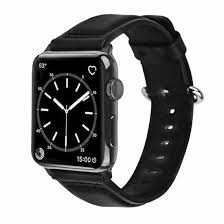 apple watch band wolait soft genuine sheep leather bands strap for apple watch series 3 series 2 series 1 black 38mm
