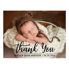 baby postcard new baby modern thank you blk postcard zazzle com