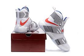 lebron james shoes soldier 10 white. mens nike lebron zoom soldier 10 cool grey white red blue basketball shoes lebron james