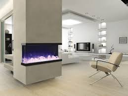 3d three sided electric fireplaces