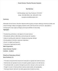 Sample Resume Of Teachers Free Teacher Resume Free Word Documents