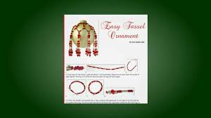 Beaded Christmas Ornaments Patterns Unique Homemade Christmas Ornaments Free Ornament Pattern YouTube