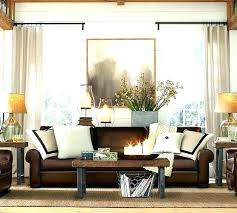 what colour goes with brown leather sofa curtain colors for brown furniture leather couch living room