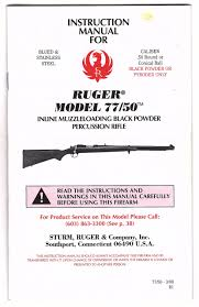 Pyrodex Load Chart Instruction Manual For Ruger Model 77 50 Inline