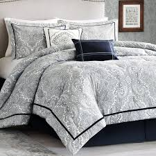 Image of: Grey Modern Comforter Sets