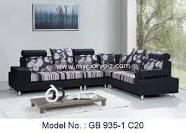modern fabric sofa set. Delighful Set Corner Sofa Set Fabric Sofa Fancy Flower Modern Inside Set