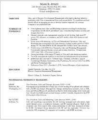 Sales And Marketing Resume Examples Sales And Marketing Resume