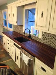 Re Laminate Kitchen Doors Built A Pair Of Black Walnut Butcher Block Countertops To Replace