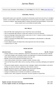 librarian cv example and template librarian resume examples