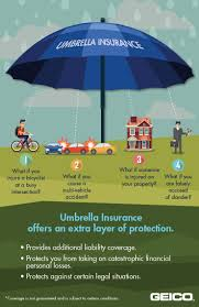 Umbrella Insurance Quote GEICO says umbrella insurance offers a canopy of extra protection 9