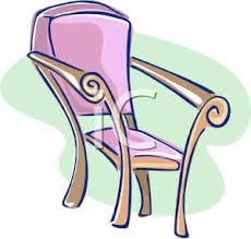 dining chair clipart. a colorful cartoon of dining chair - royalty free clipart picture