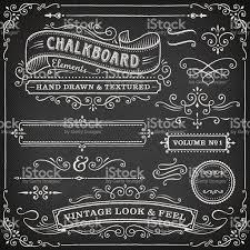 Chalkboard Chalkboard Ornate Design Elements Stock Vector Art 166011171 Istock