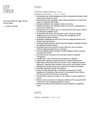 Database Administrator Resume Resume For Study