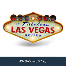 Las Vegas Welcome Neon Sign for Bar <b>Vintage Home Decor</b> ...