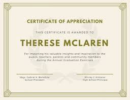Sample Of Appreciation Certificates Of Appreciation Magdalene Project Org