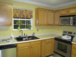 Yellow Painted Kitchen Cabinets Dark Oak Kitchen Cabinets Quicuacom