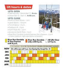 Vail Resorts Organizational Chart Mountain Info Keystone Ski Resort