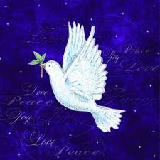 Purple Christmas Card Dove In Flight Charity Christmas Cards X10