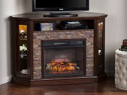 redden wall corner infrared electric fireplace tv stand in espresso fi9392