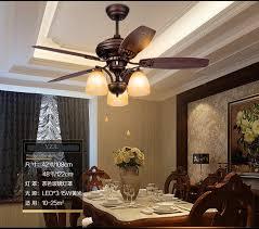 american rustic retro fan chandelier fan lights living room dining room bedroom wooden leaf