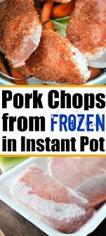 These easy instant pot boneless pork chops have the most incredible creamy lemon sauce. Frozen Pork Chops In The Instant Pot From Rock Hard To Perfectly Tender In Cooking Frozen Pork Chops Instant Pot Recipes Chicken Pork Chops Instant Pot Recipe
