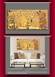 KLIMT albero della vita il bacio quadri moderni artisti famosi riproduzione  casa