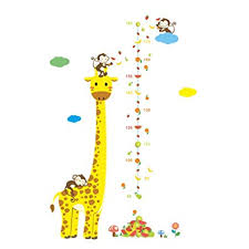 Amazon Com Kids Growth Height Chart Wall Stickers Height