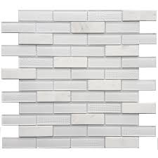 white glass tile texture. Perfect Glass Avenzo Multi Texture Stone And Glass Brick Marble Mosaic Subway Wall Tile  Common In White Texture E