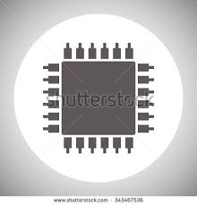 semiconductor icon stock images royalty images vectors chip icon