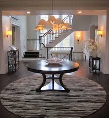 round foyer table in chappaqua ny residence plan 9