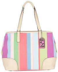 Coach Signature Hamptons Stripe Carryall Bag « Holiday Adds