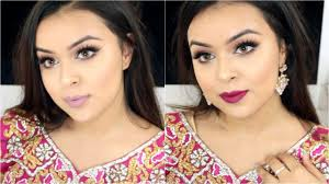 punjabi indian glam wedding party makeup tutorial grwm 2 lip options 2016 you