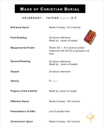 Funeral Mass Program Funeral Program Template 23 Free Word Pdf Psd Format Download