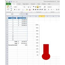Barometer Chart How To Make A Thermometer Chart In Microsoft Excel 2010