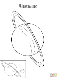 Uranus Planet Coloring Page Free Printable Coloring Pagesll