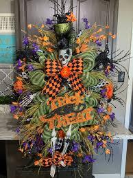 Skelton Wreath Lighted Halloween Wreath Halloween Swag