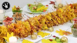 Herbstliche Tischdekoration Selber Basteln