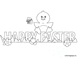 Easter Chick Coloring Pages Happy Chick Coloring Easter Baby Chick