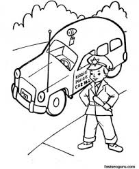 Small Picture Police car child policeman coloring pages printable Printable