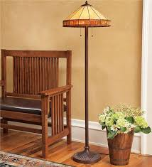 main image for style stained glass mission style floor lamp